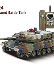 HuanQi 4ch 1:24 Infrared Battle Tank With Life Indicator ,Turret Turning ,Gun Shooting And Firing RC Tanks
