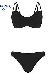 Shaperdiva Women's Cross Bandage Push Up Bikini Set Swimwear