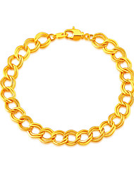 Gold Bracelet Jewelry Platinum/18K Gold Plated 2 Colors 20 CM 9 MM Wide Link Chain Punk Bracelet Wholesale B40065