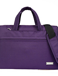 Unisex Nylon 13 in Laptop Laptop Bag - Purple / Gray / Black