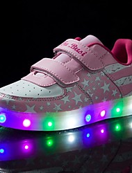 Kid Boy Girl Upgraded USB Charging LED Light Sport Shoes Flashing Sneakers USB Charge (Pink)