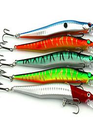 """5pcs pcs Señuelos duros / Pececillo Colores Surtidos 10g g/3/8 Onza,120mm mm/4-3/4"""" pulgada,Plástico Pesca de Cebo"""