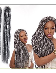 Hand-woven African Black Dirty Braid Hair Wigs Silver Bulk Buy 1-12packs