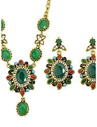 Schmuckset Aleación Halsketten Ohrringe Für Party Alltag 1 Set Hochzeitsgeschenke