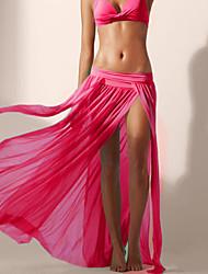 Vêtement couvrant Aux femmes Couleur Pleine Une-Pièce Licou Spandex