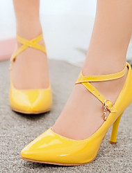 Women's Shoes Patent Leather Stiletto Heel Heels / Pointed Toe Heels Wedding / Office & Career / Blue / Yellow / Red