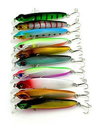 """10pcs pcs kleiner Fisch Verschiedene Farben 7.9g g/5/16 Unze,100mm mm/4-5/16"""" Zoll,Kunststoff Spinnfischen"""