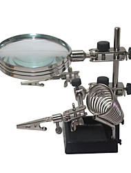 Helping Third Hand Soldering Stand with 4X Magnifying Glass
