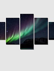 Paisagem / Romântico Impressão em tela 5 Painéis Pronto para pendurar , Horizontal