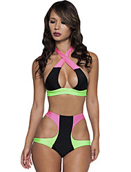 Women's  Electric Multicolored High Waist Swimsuit