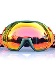BASTO Green Frame  Orange Sensor Skiing Snow Goggles