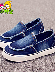 Boys' Shoes Outdoor / Casual / Athletic Denim Spring / Summer / Fall Comfort / Round Toe Split Joint Black / Blue / Royal Blue