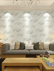 New Rainbow™Floral Wallpaper Contemporary Wall Covering , Non-woven Paper 3D Stereoscopic Minimalist Painting Clouds