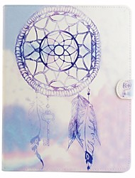 Purple Wind Chimes Coloured Drawing or Pattern PU Leather Folio Case Tablet Holster for iPad Air2 iPad Air