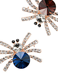 Brooch Hight Quality Spider Crystal Acrylic Rhinestone Brooches Pins Wedding Jewelry Badges with Pin Wholesale X30007