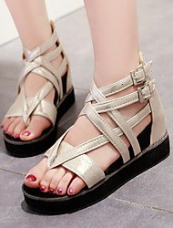 Women's Shoes Peep Toe / Platform Sandals / Heels Outdoor / Dress / Casual Black / White / Gold/m68