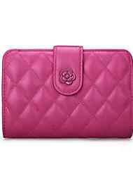 Women Sheepskin Tri-fold Wallet / Card & ID Holder / Coin Purse / Business Card Holder