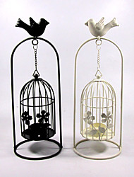 Valentine'S Day Creative Storm Lantern Crafts And Gifts Furnishing Articles Bird Cages Hanging, Wrought Iron Candlestick