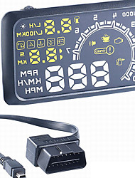 "W02 Head Up Display Car OBD II HUD Head Up Display 5.5"" Screen Safe Driving"