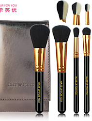 5 Makeup Brushes Set Synthetic Hair Travel / Portable Wood Face / Eye / Lip MAKE-UP FOR YOU