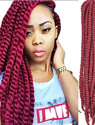 ручной африканский черный грязный косу волосы парики красный сыпучие покупку 1-12packs
