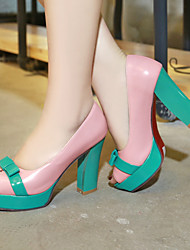 Women's Shoes Heel Heels / Peep Toe / Platform Sandals / Heels Office & Career / Dress / Casual Blue / Pink / Beige