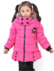 Girl's Pink / Red / Yellow Jacket & Coat Cotton Blend Winter / Fall / Spring