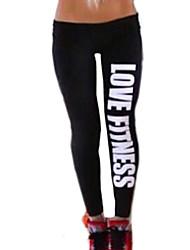 amor de fitness moda algodão esportes padrão legging das mulheres