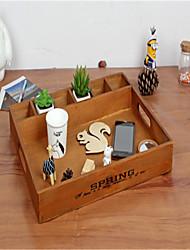 fazer o velho retro caixa de armazenamento multifuncional palete de separação compota de madeira