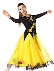Robes(Vert Rouge Bleu Royal Blanc Jaune,Chinlon Crêpe,Danse moderne Spectacle Danse de Salon)Danse moderne Spectacle Danse de Salon- pour