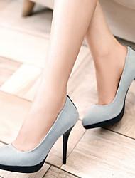 Mujer-Tacón Stiletto-Tacones / Plataforma / PuntiagudosOficina y Trabajo / Vestido / Casual-Semicuero-Azul / Azul Real