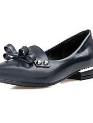 Zapatos de mujer - Tacón Bajo - Puntiagudos - Planos - Oficina y Trabajo / Vestido / Casual - Semicuero - Negro / Azul / Rojo / Blanco