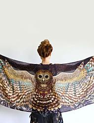 Owl Scarf Single Owl Printed Muffler Cashmere Cappa Tassel Scarf Shawls Angel Wings Tippet