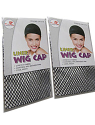 Black Wig Caps Net Wig Accessories Special Wig Net Anti Slip Fixed Hair for Wig 2pcs