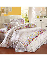 Stars,High-end Full Cotton Reactive Printing Stripe Pattern Bedding Set 4PC, FULL/Queen Size