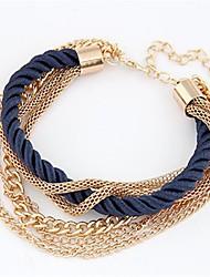European Style Elegant Weave Multilayer Chain Bracelet