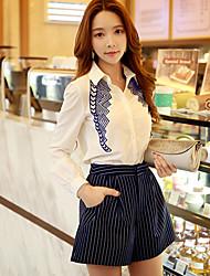 Shorts ( Polyester ) Informel / Travail Taille Normale à Shorts pour Femme