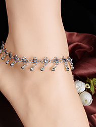 2Pcs  Anklet Chain Barefoot Sandals Bridemaids Wedding Jewelry Toe bells Tassels   (Silver plated)