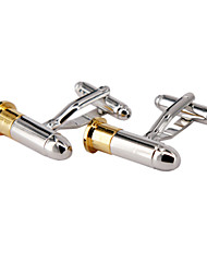 Jewelry Brass Material, Can Rotate The Lid Of The Bullet Shape Cufflinks