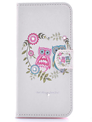 For Samsung Galaxy Case Card Holder / Rhinestone / with Stand / Flip / Pattern / Magnetic Case Full Body Case Owl PU Leather Samsung