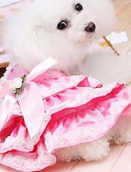 Dog Coat Rose Summer Fashion