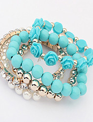 Cute / Casual Alloy / Imitation Pearl Beaded / Stacked / Stretch Bracelet
