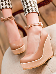 Women's Shoes Heel Wedges / Heels / Platform Heels Outdoor / Dress / Casual Pink / Almond / Beige/C-9