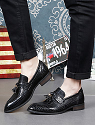 Men's Shoes Amir 2016 New Style Hot Sale Party/Office/Casual Black Leather Loafers With Tassel