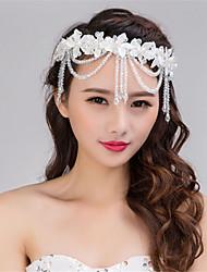 Fashion Handmade Wedding Party Women Bride Lace Head Chain Hair Decoration
