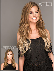 Hot Style Brown Color Synthetic Top Quality Long Curly Wigs