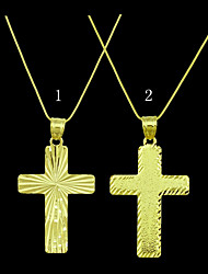 18K Gold Plated Jesus Cross Pendant