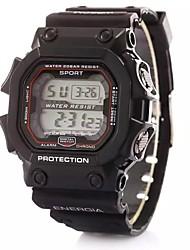 Дети Спортивные часы электронные часы LCD Календарь Секундомер тревога Цифровой Plastic Группа Черный