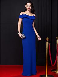 TS couture® официально платье вечера оболочкой / колонки вне плечу длиной до пола шифон с бантом (ы)