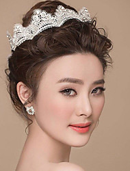 Women's Fashion Lace Rhinestone Wedding Praty Tiaras